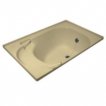 Caravan/Motorhome Medium Shower Bath c/w waste fitting – Soft Cream